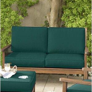 lancaster eucalyptus love seat with cushion