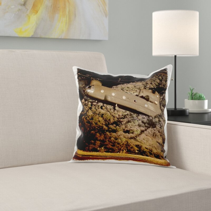 USA, California, Chinook Search Rescue Helicopter Pillow Cover