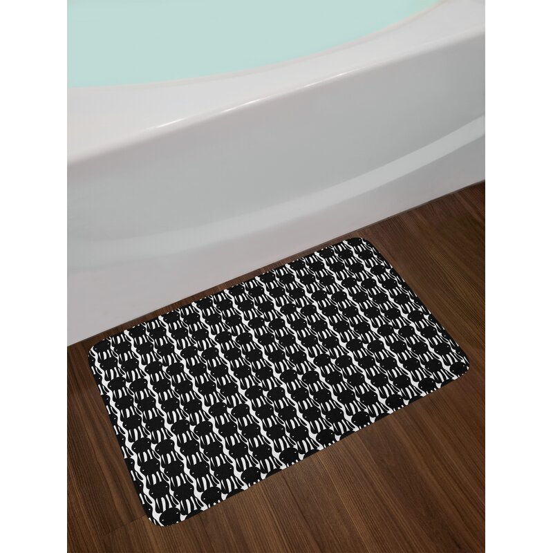 Abstract Octopus Bath Rug