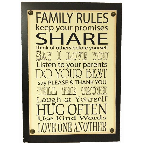 Family Rules Sign | Wayfair