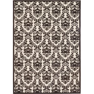 Ulysses Cream/Dark Brown Area Rug