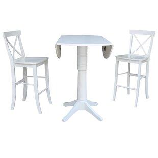 Kimbrough 3 Piece Pub Table Set 2019 Sale