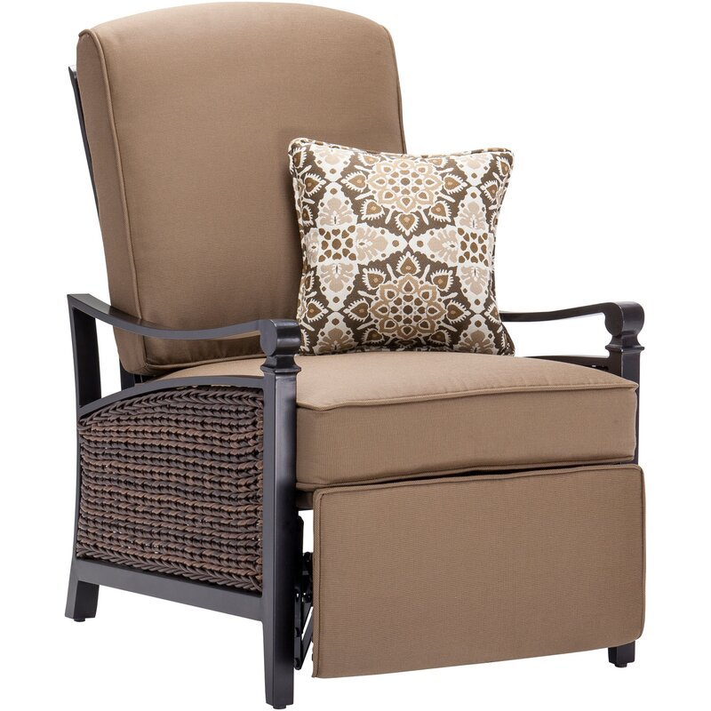 Carson Luxury Outdoor Recliner Chair With Cushions