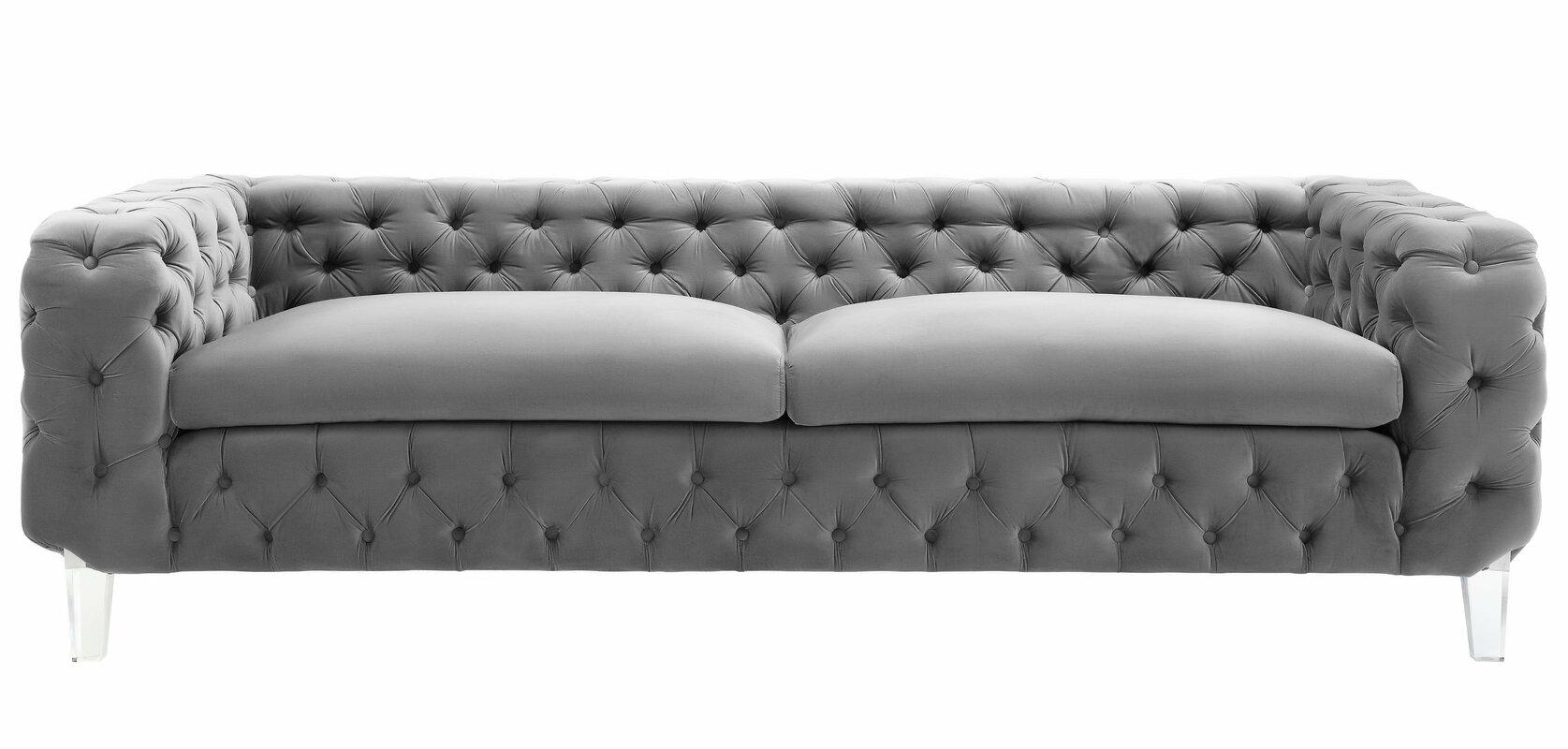 Ceclia Velvet Upholstery Chesterfield Sofa