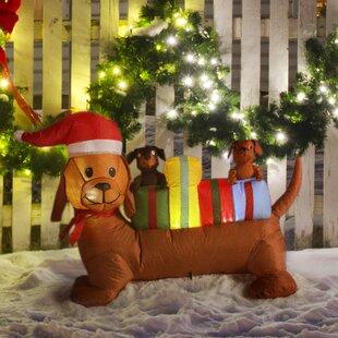 4 Foot Long Christmas Dog Decoration