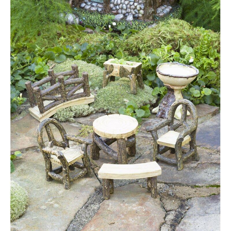 Superbe Miniature Garden Woodland 7 Piece Fairy Garden Set