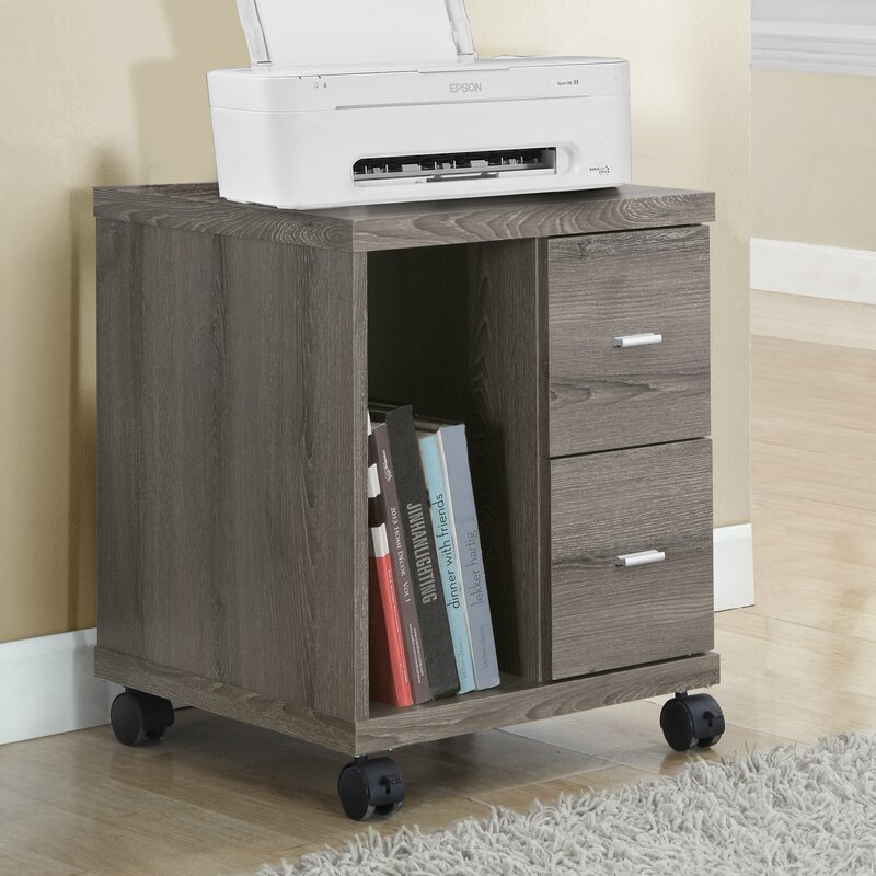 Mobile Printer Stand With 2 Drawer