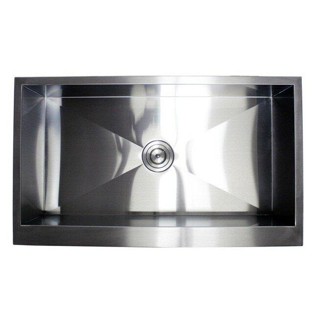 Ariel 36 L X 21 W Stainless Steel Single Bowl Farmhouse Kitchen Sink