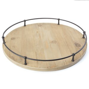 Marsden Round Black Metal Tray