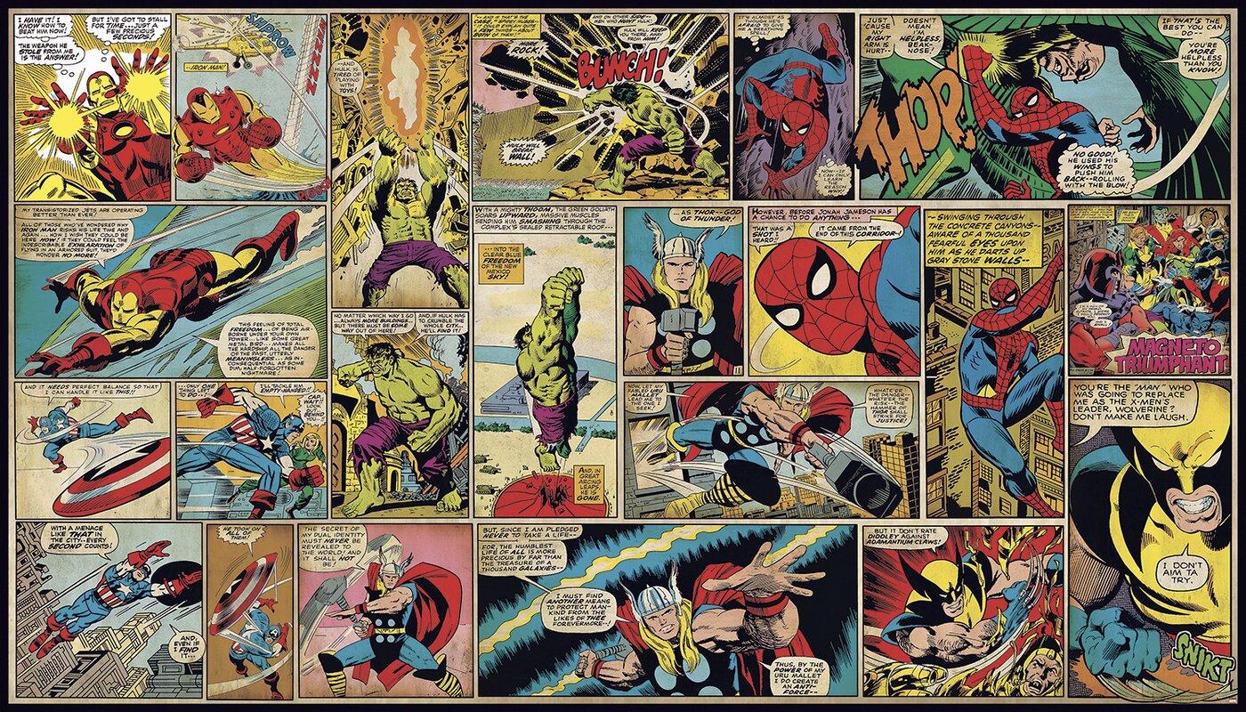 Walt Disney Kids II Marvel Classic Comic 10.5' x 72