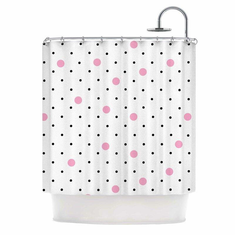 East Urban Home Pin Points Polka Dot Shower Curtain | Wayfair