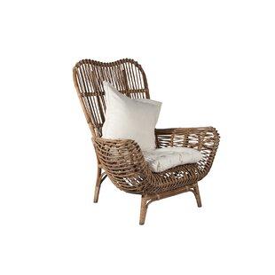 Round Back Rattan Chair