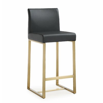 Faux Leather Low Back Counter Height Bar Stools You Ll