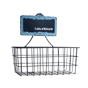 metal wall basket with chalkboard - Metal Storage Bins
