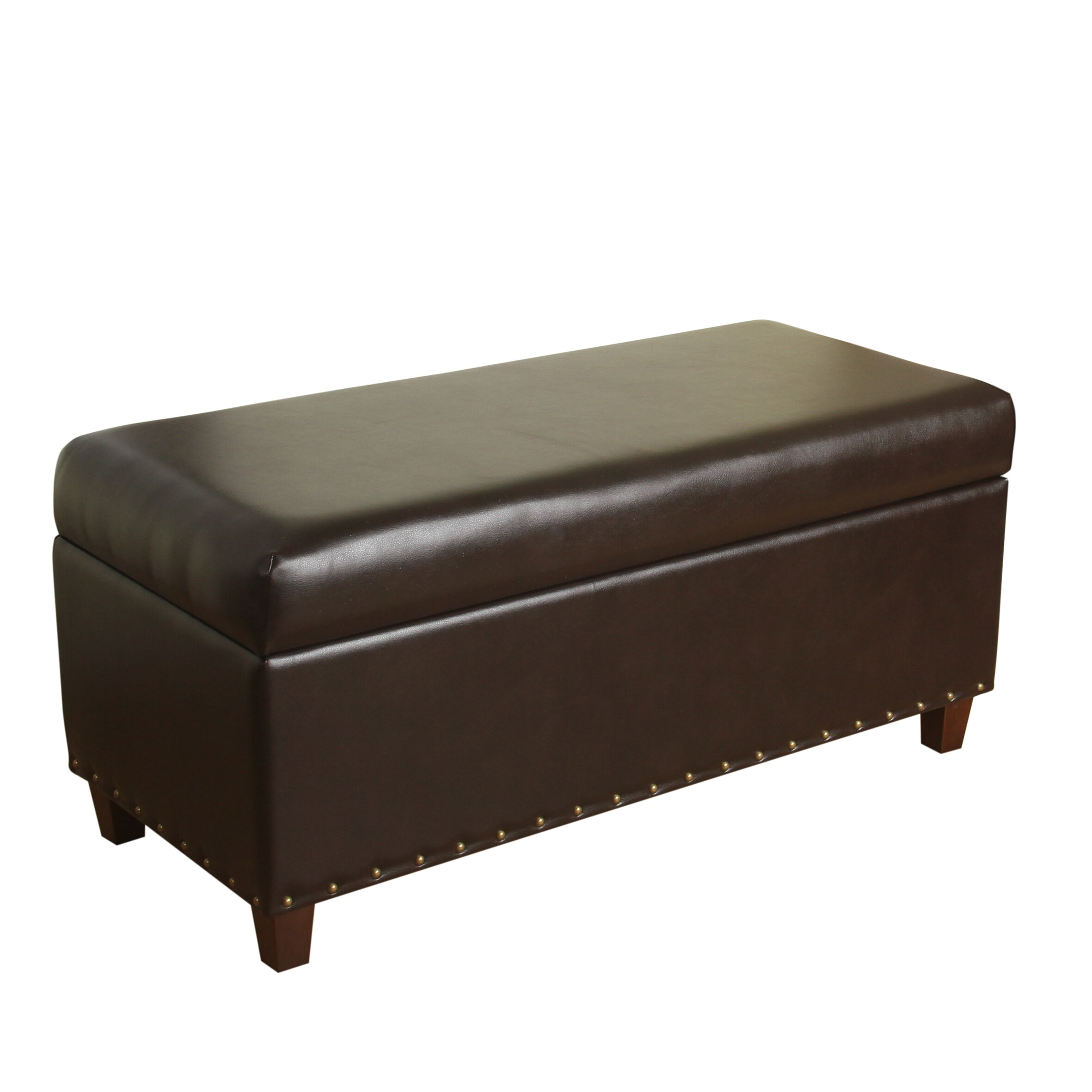 sc 1 st  Wayfair & Alcott Hill Krantz Faux Leather Storage Bench u0026 Reviews | Wayfair