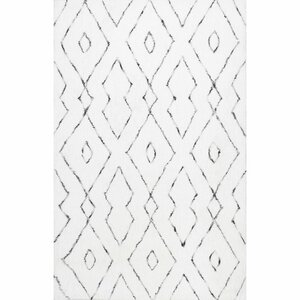 Peraza Hand-Tufted White Area Rug