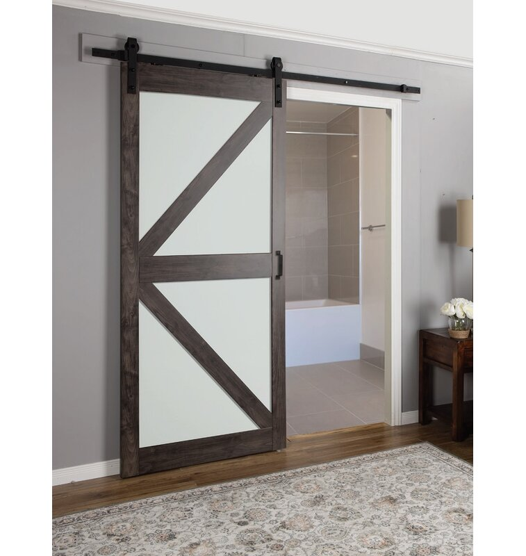 Erias Home Designs Continental Frosted Glass 1 Panel Ironage