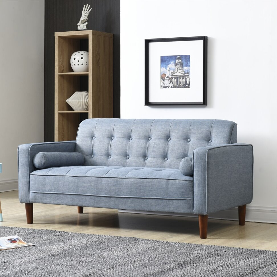 Cool Langley Street Isaac Standard Loveseat Evergreenethics Interior Chair Design Evergreenethicsorg