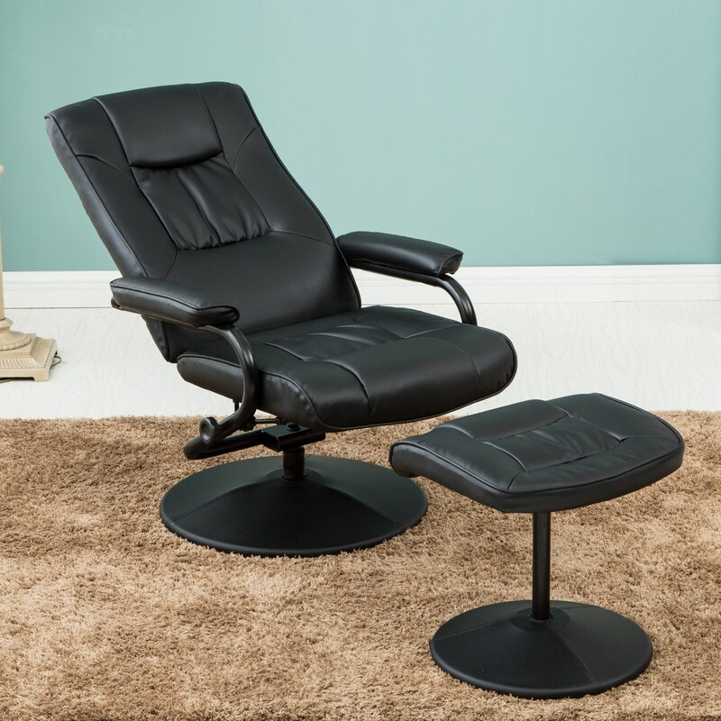 Home Amp Haus Memphis Manual Swivel Recliner With Footstool