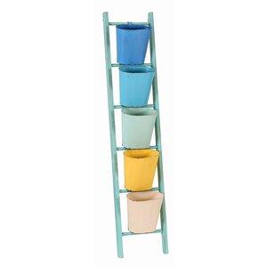 36,3 x 169 cm Badregal Ladder von Besp-Oak Furniture