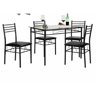 Lightle 5 Piece Breakfast Nook Dining Set