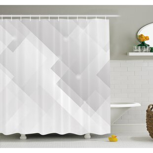 Abstract Light Tones Featured Perspective Stripes Reflection Rays Artisan Artwork Shower Curtain Set