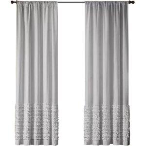 Hawley Solid Semi-Sheer Rod Pocket Single Curtain Panel