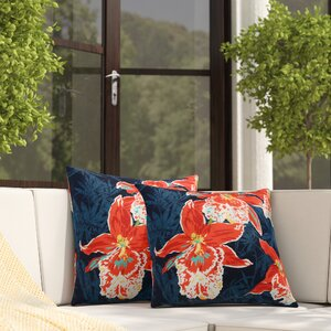 Carrera Orchid Outdoor Throw Pillow (Set of 2)