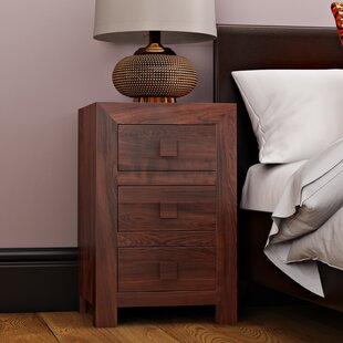 Cicero 3 Drawer Bedside Table