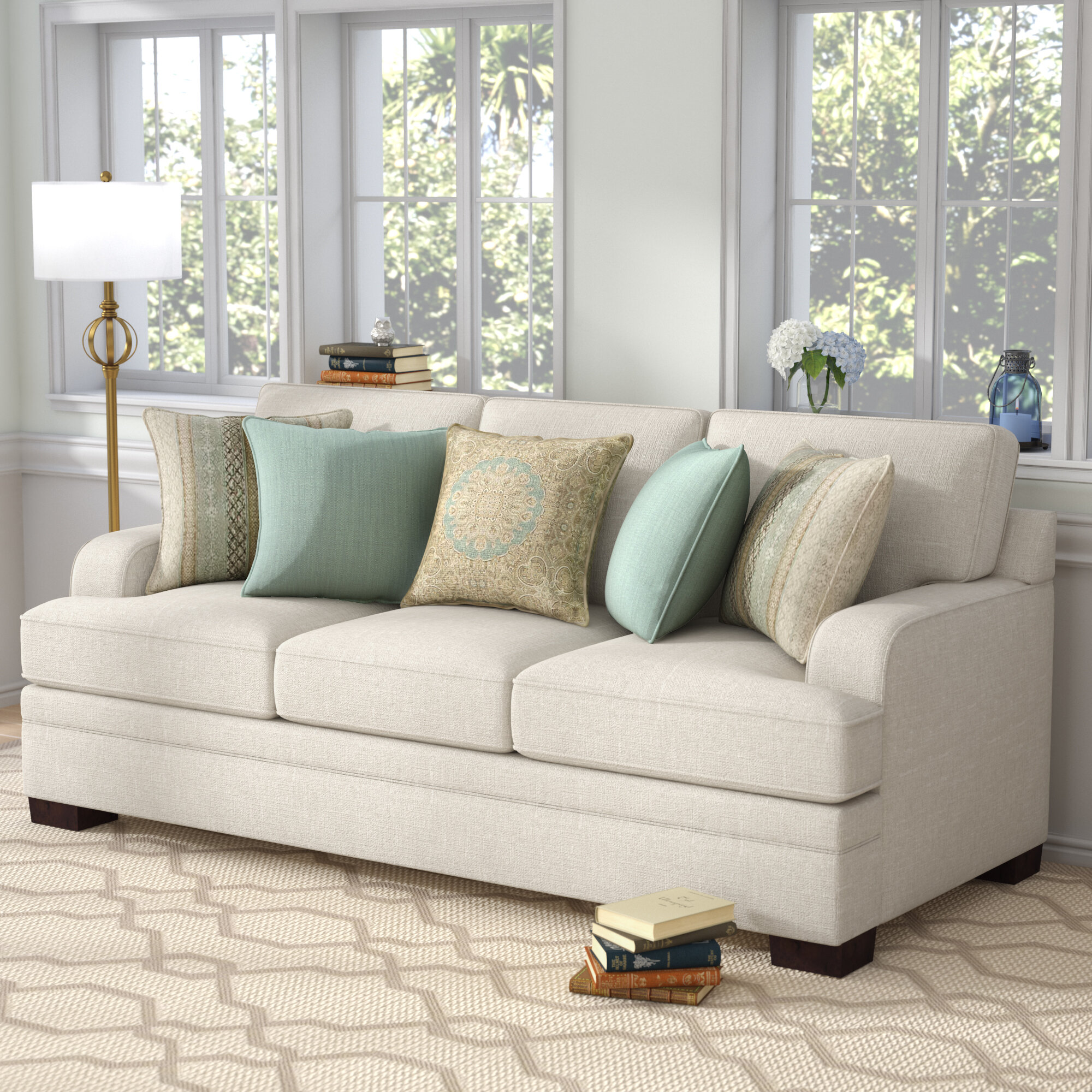 Sectional Couch Hattiesburg Ms: Three Posts Hattiesburg Parchment Sofa
