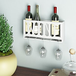 Santos 4 Bottle Wall Mounted Wine Bottle Rack