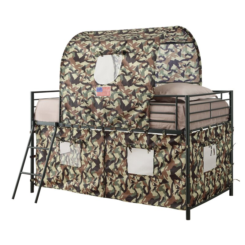 Zoomie Kids Kali Camouflage Tent Twin Loft Bed Amp Reviews