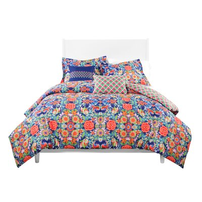Catalina Estrada  Rosal Azul Reversible Comforter Set