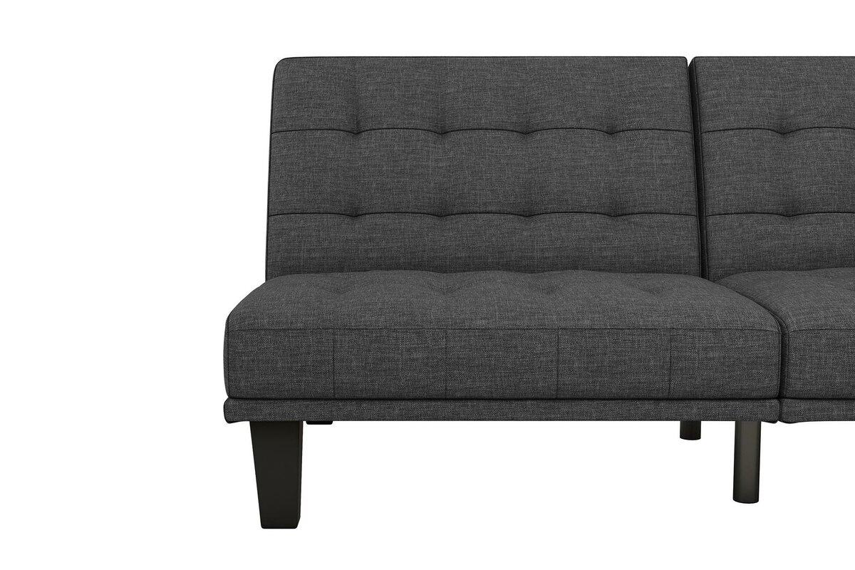 haysi futon lounger convertible sofa wade logan haysi futon lounger convertible sofa  u0026 reviews   wayfair  rh   wayfair