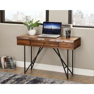 Wood Desk With Metal Legs Wayfair