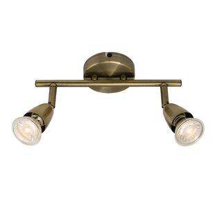 Antique brass track lighting kits wayfair amalfi 2 light track kit mozeypictures Gallery