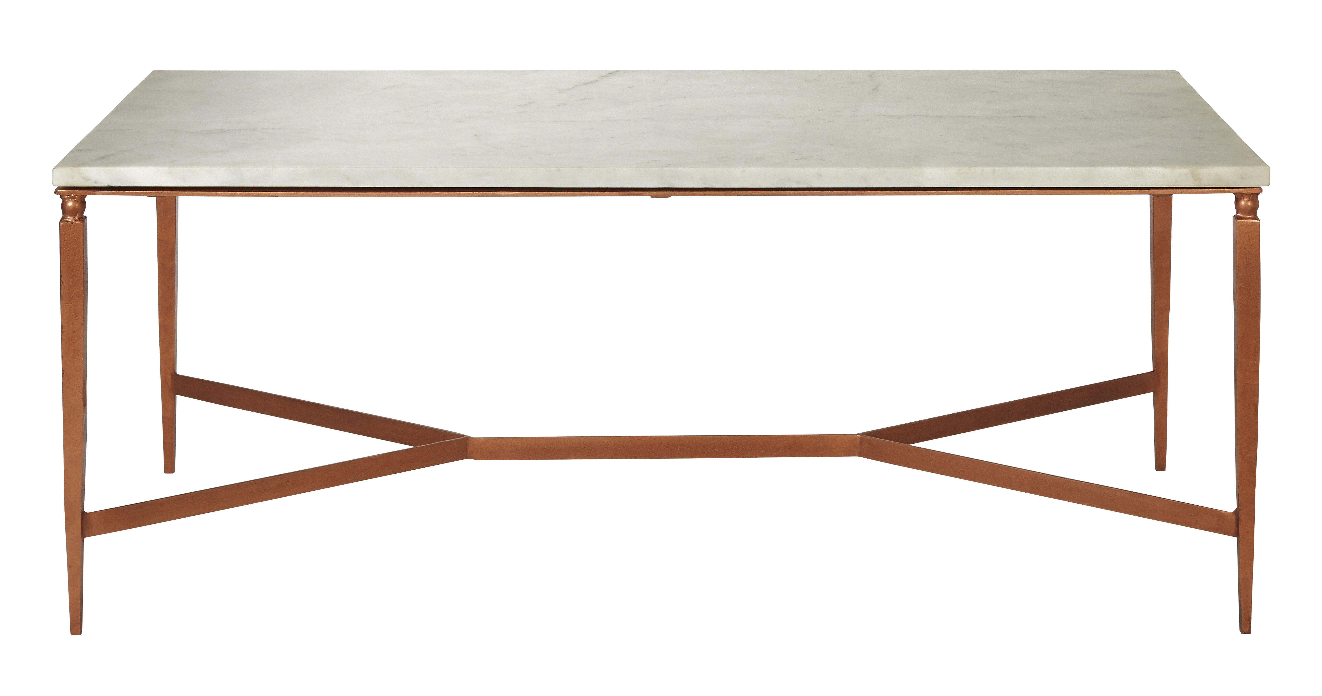 George Oliver Mercedes White Marble Top Coffee Table Wayfaircouk