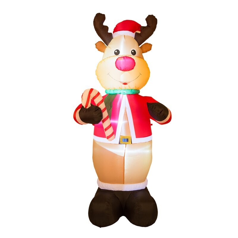 Delightful Lighted Reindeer Decor Inflatable