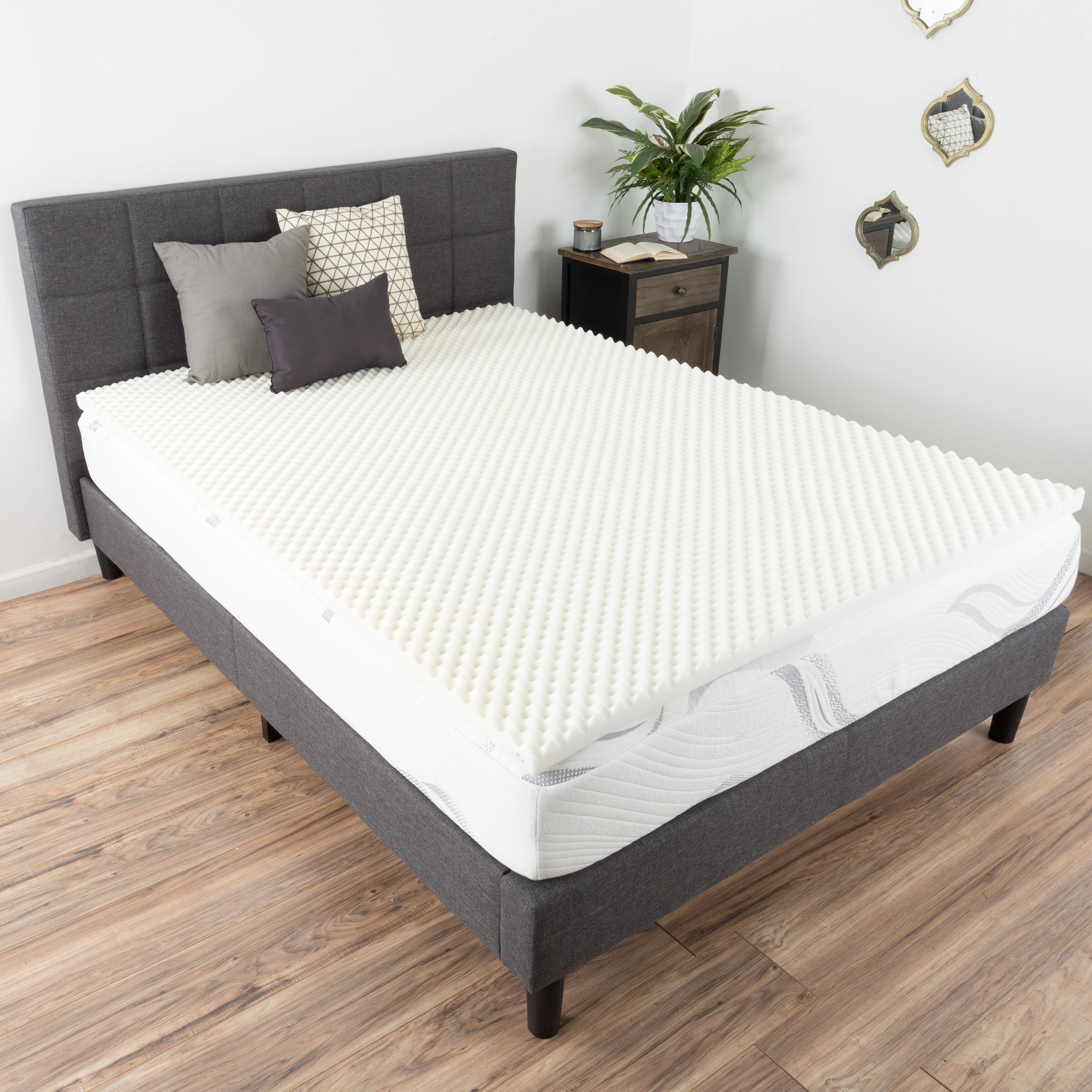 Alwyn Home Egg Crate 2 Memory Foam Mattress Topper Wayfair