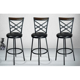 Adjule Height Swivel Bar Stool Set Of 3