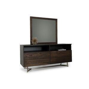 Merkley Rectangular 4 Dresser with Mirror by Brayden Studio