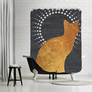 ikonolexi cat shower curtain - Cat Curtains
