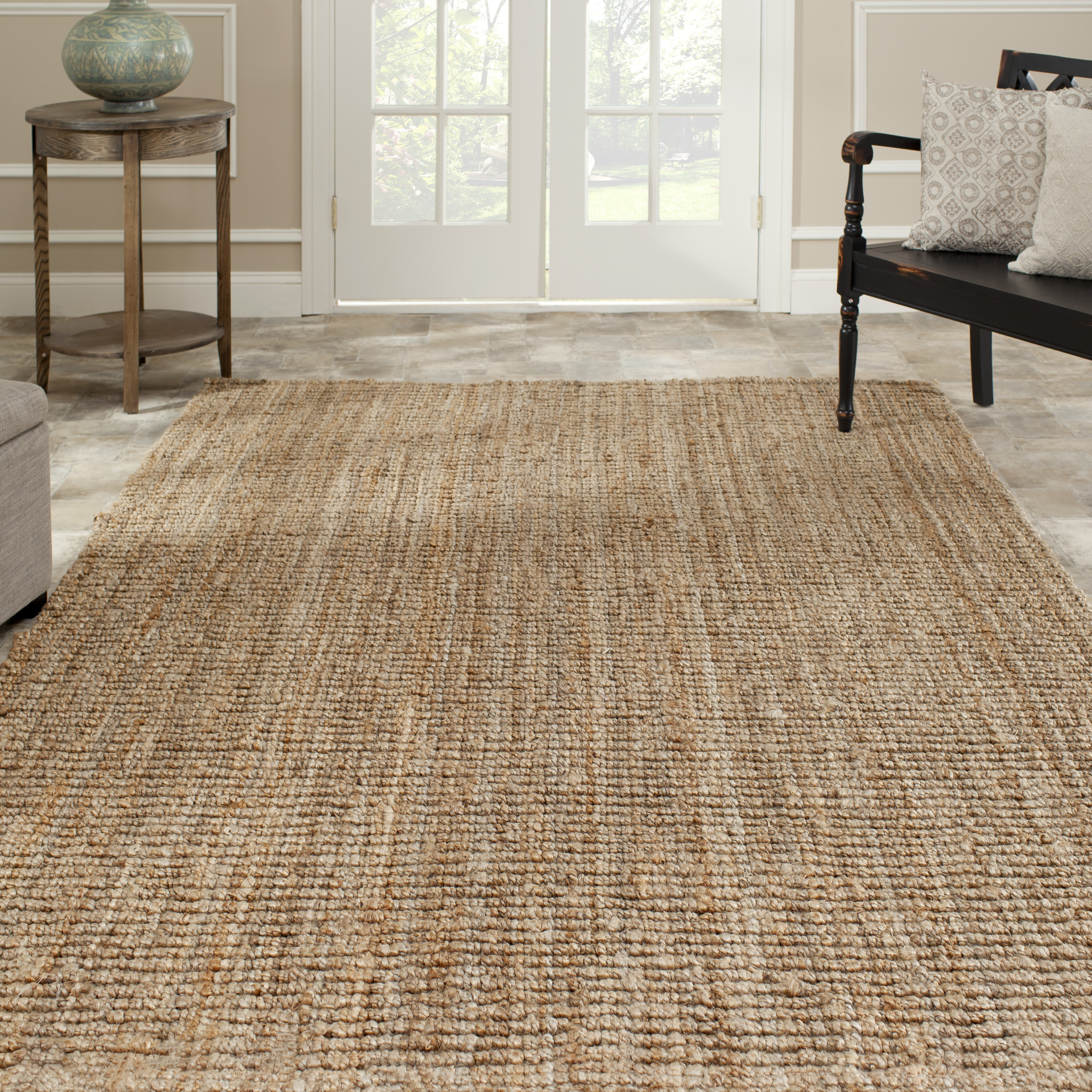 Gaines Power Loom Natural Area Rug Charlton
