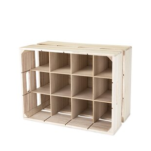 Wooden Crate 12 Bottle Tabletop Wine Bottle Rack