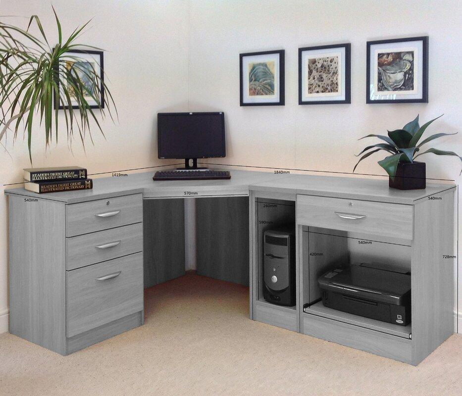 Homestead Living Walshaw L-Shape Computer Desk & Reviews