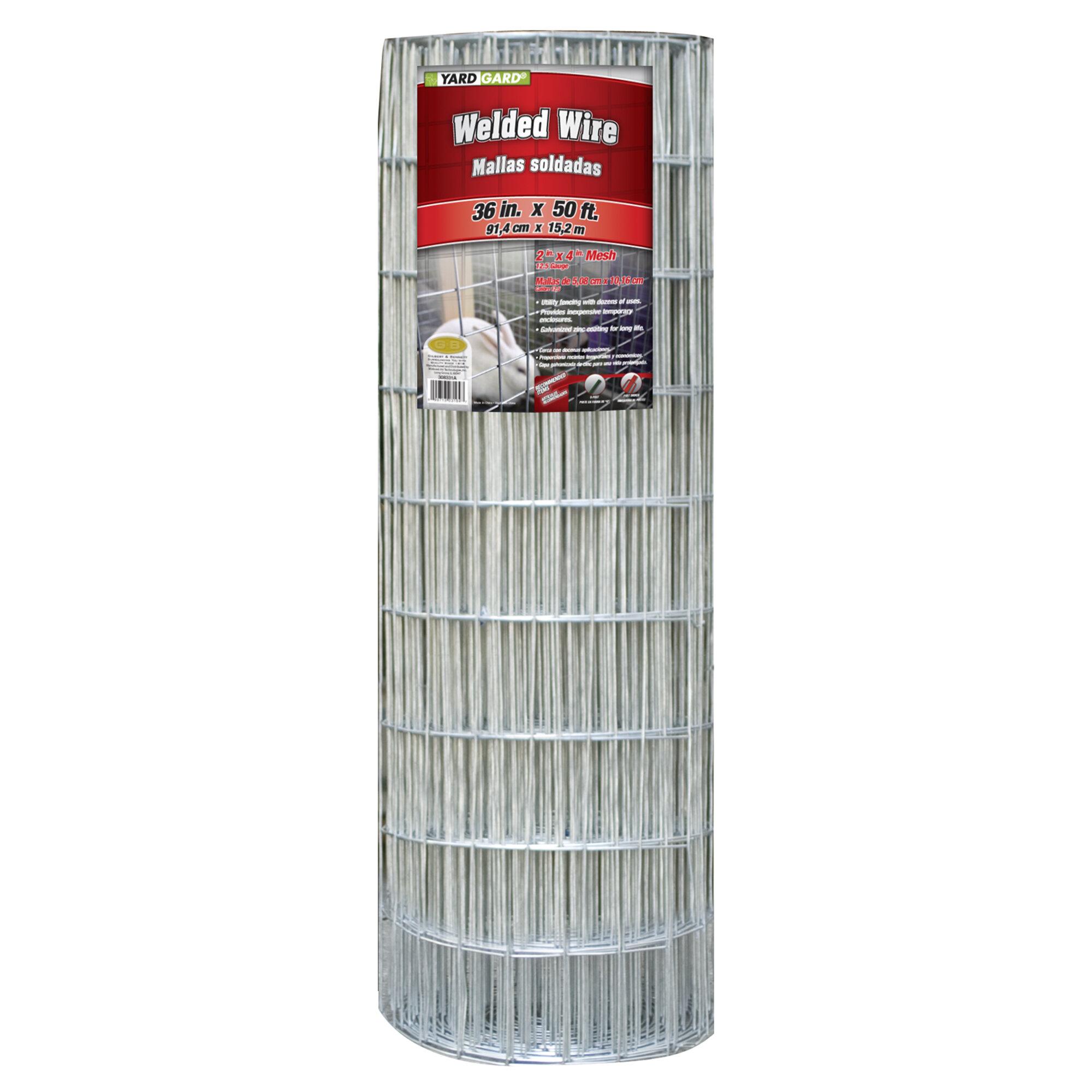 YARDGARD 12.5 Gauge Mesh Galvanized Welded Wire | Wayfair