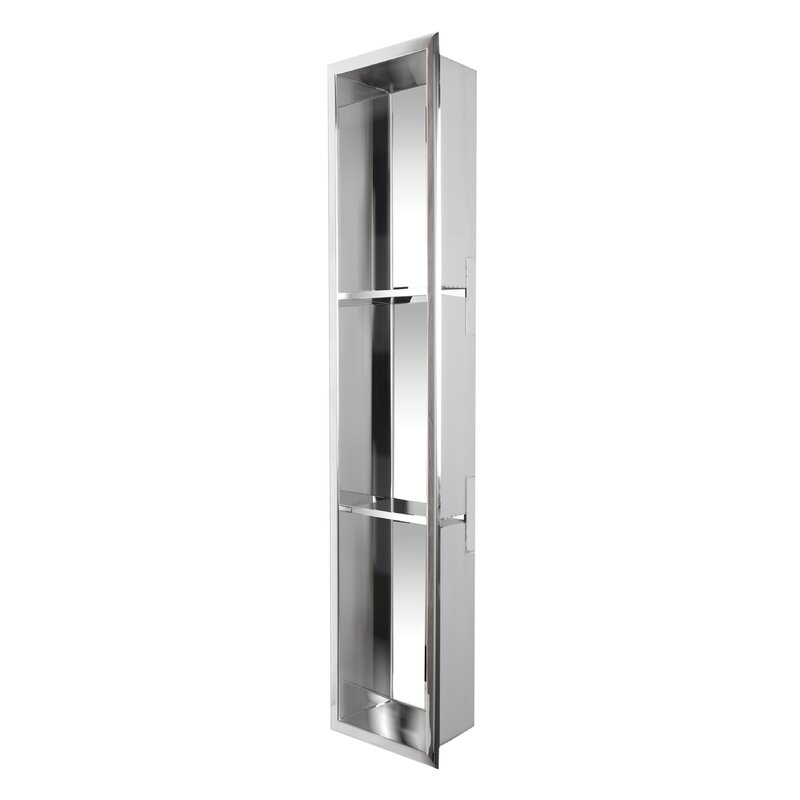 Vertical Stainless Steel Triple Shower Niche