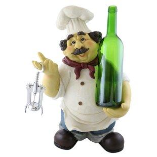 Skeffingt Large Happy Chef 1 Bottle Tabletop Wine Rack