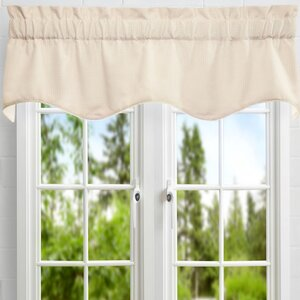 Carvalho Mini Check Textured Weave Duchess Filler Lined Curtain Valance
