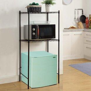 Microwave And Mini Fridge Storage Rack